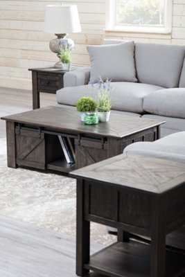 Garrett Dark Tone Wood Lift Coffee Table. VIEW LARGER