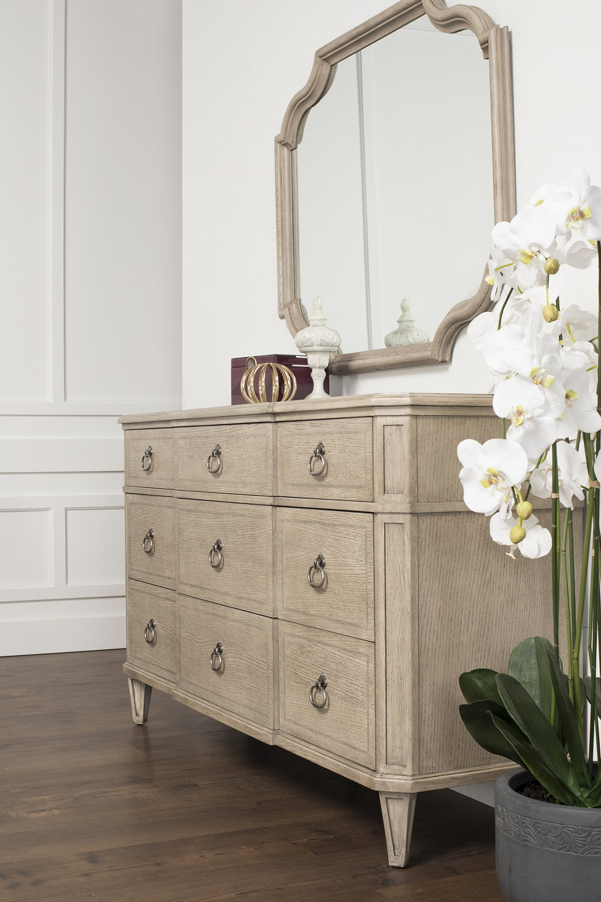 Marquesa Gray Wood Dresser