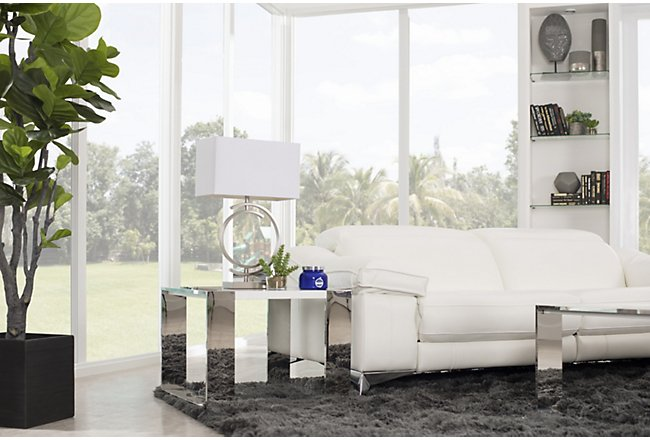 Neo White Wood End Table