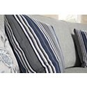 Amuse Blue Fabric Square Accent Pillow