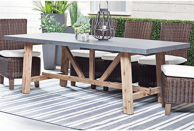 Canyon Concrete Rectangular Table