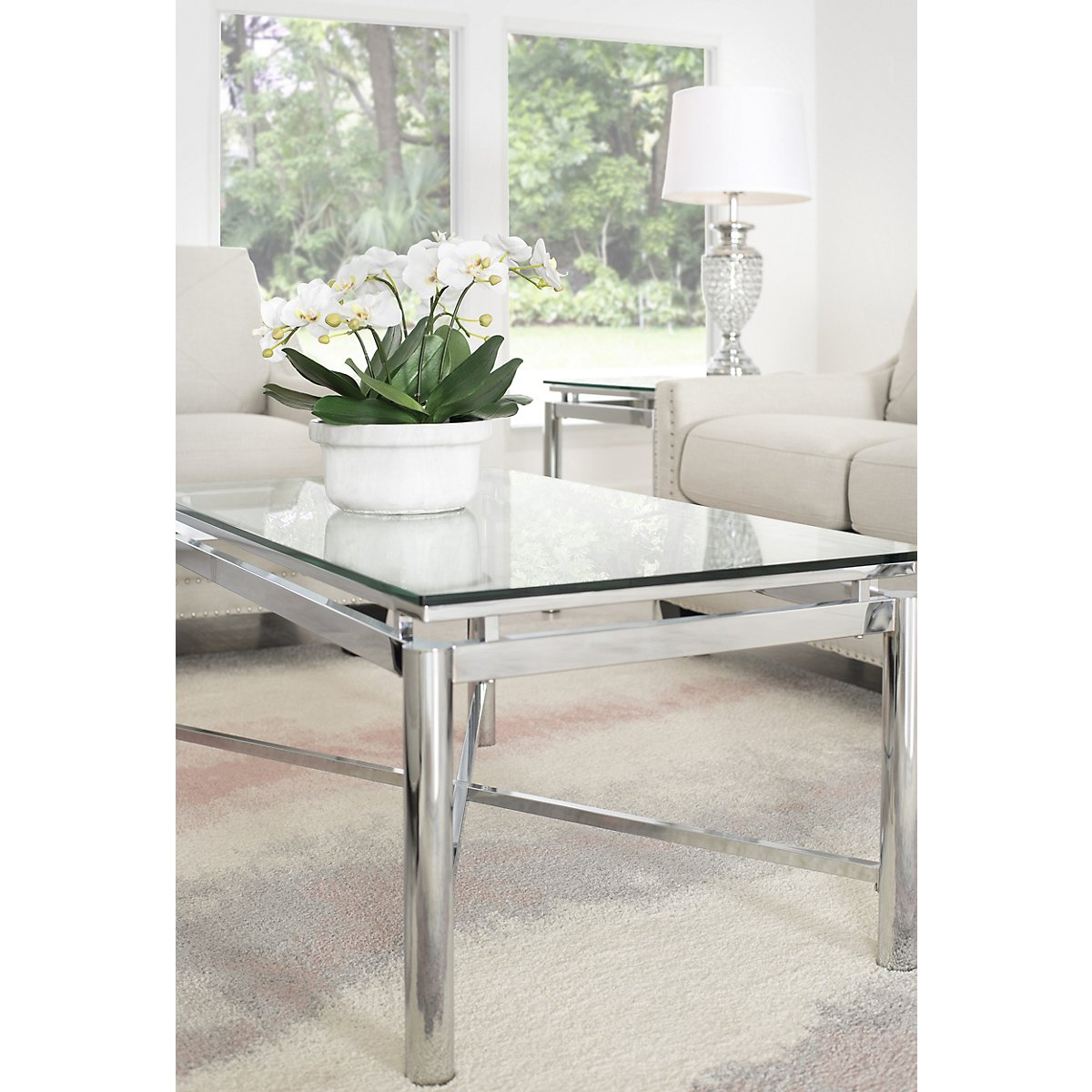 Nova Glass Rectangular Coffee Table | Living Room - Coffee Tables ...