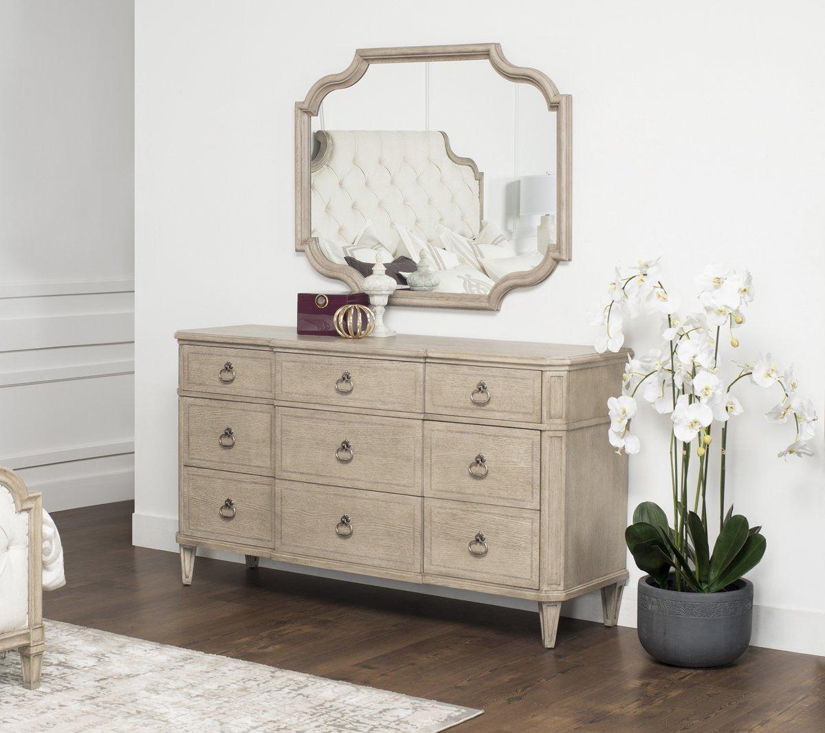 Marquesa Gray Wood Dresser & Mirror