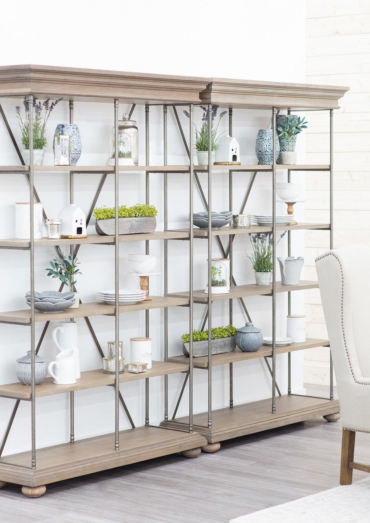 Haddie Light Tone Wood Bookcase