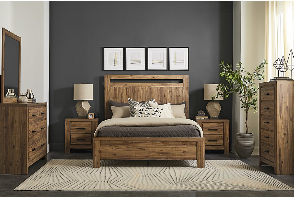 Forest Light Tone  Panel Bedroom