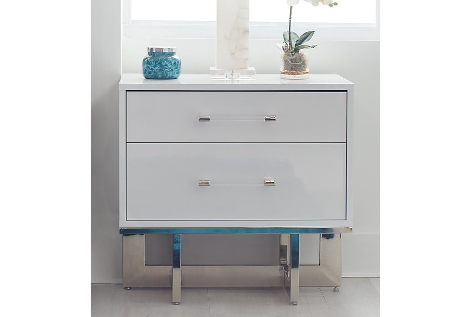 Cortina White  Nightstand