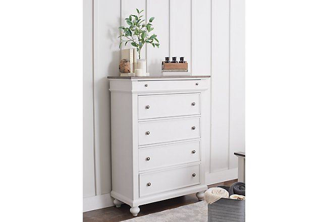 Grand Bay Two-Tone Wood Drawer Chest