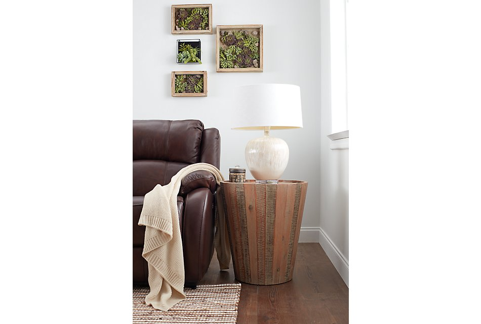 Conundrum Mid Tone  Round End Table