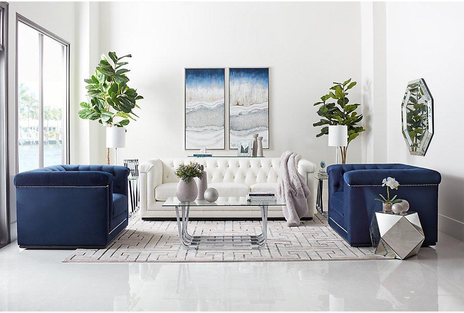 Blair White Micro Sofa