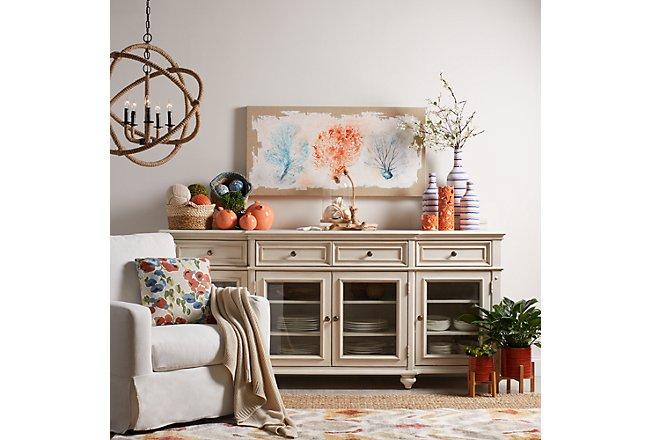 Savannah Ivory Wood Credenza