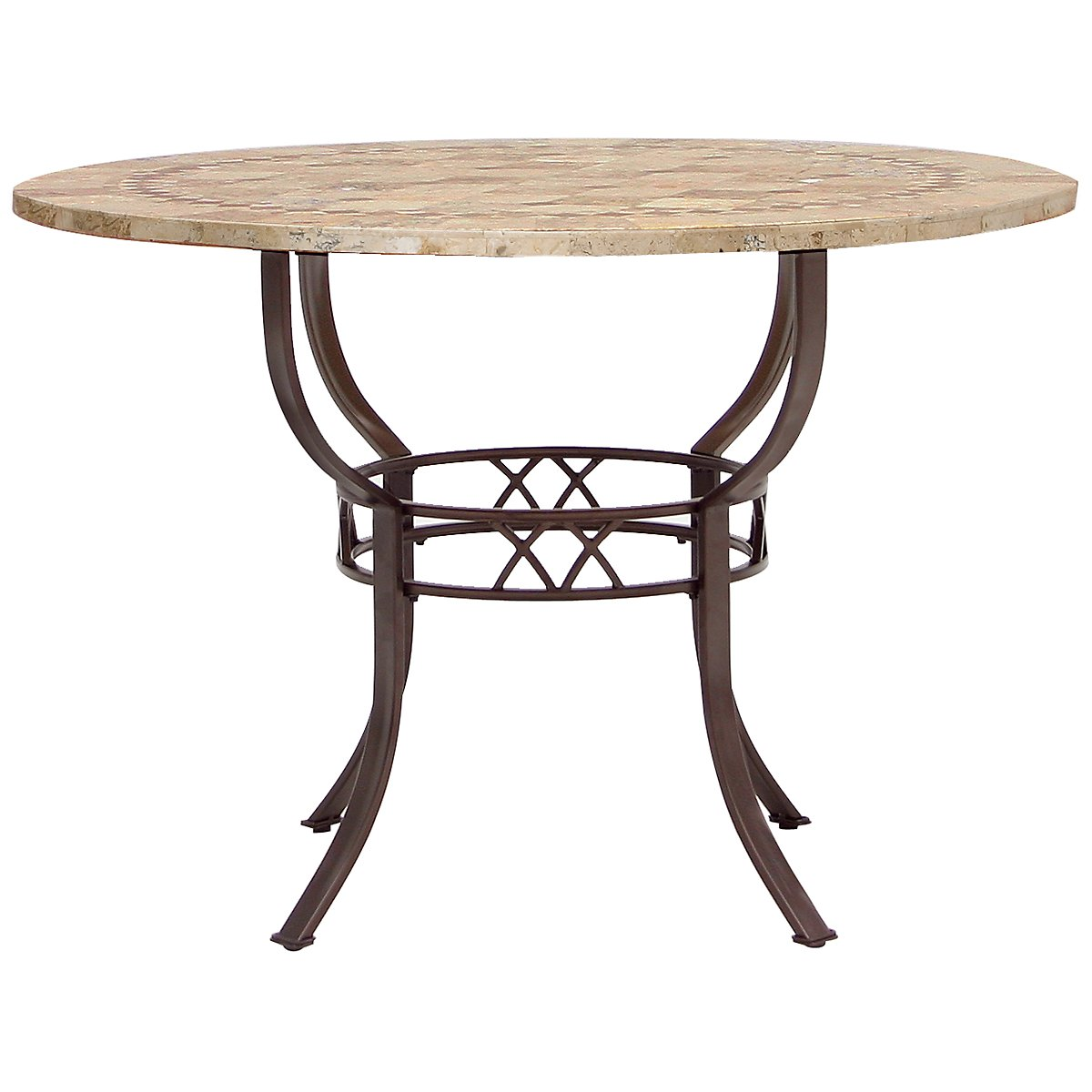 Brookside stone round table for Dining room tables 0 finance
