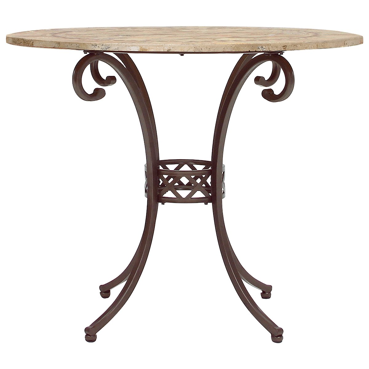 Brookside Stone Round High Dining Table
