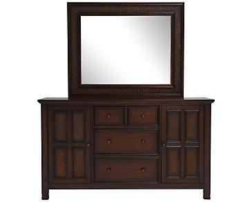 Isle Dark Tone Dresser & Mirror