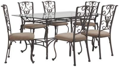 Glass Table And 4 Chairs Part - 28: Westcot2 Rectangular Glass Table U0026 4 Chairs