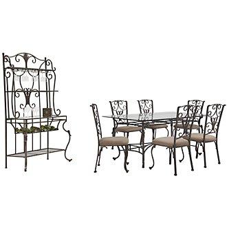 Westcot2 Rectangular Glass Dining Room