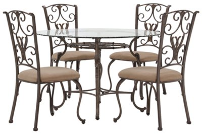 sc 1 st  City Furniture & westcot2 round glass table u0026 4 chairs