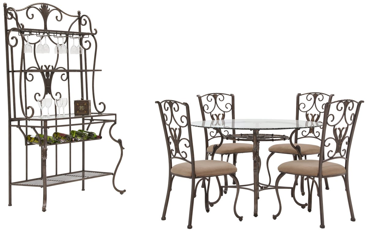 Westcot2 Round Glass Dining Room