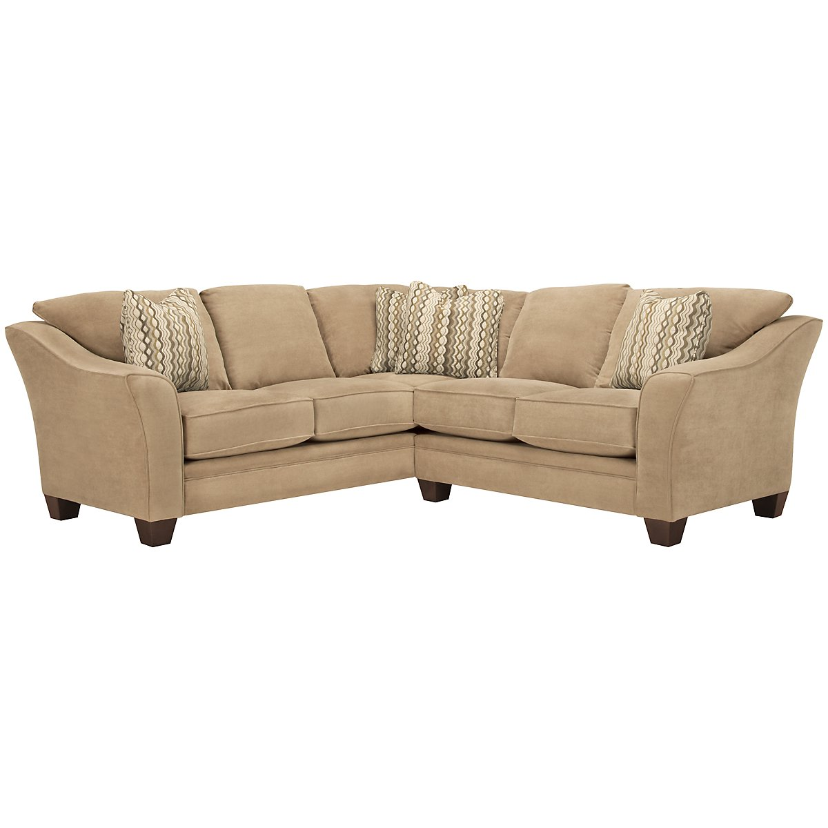 Grant2 Light Brown Microfiber Two-Arm Sectional