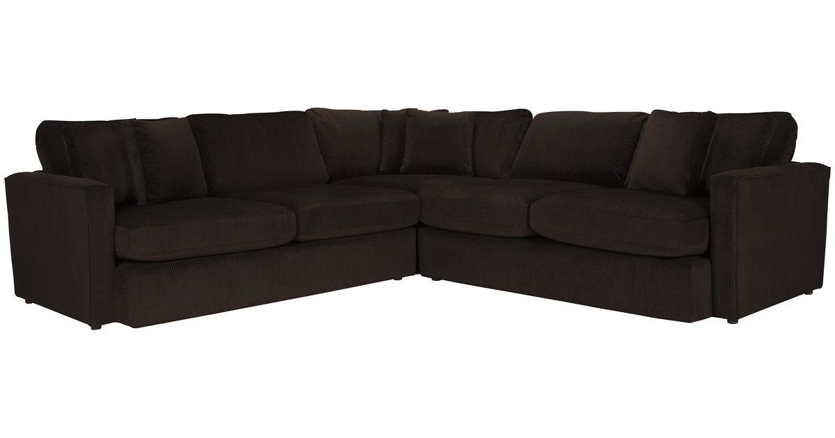 tara2 dk brown micro sm 2arm sectional