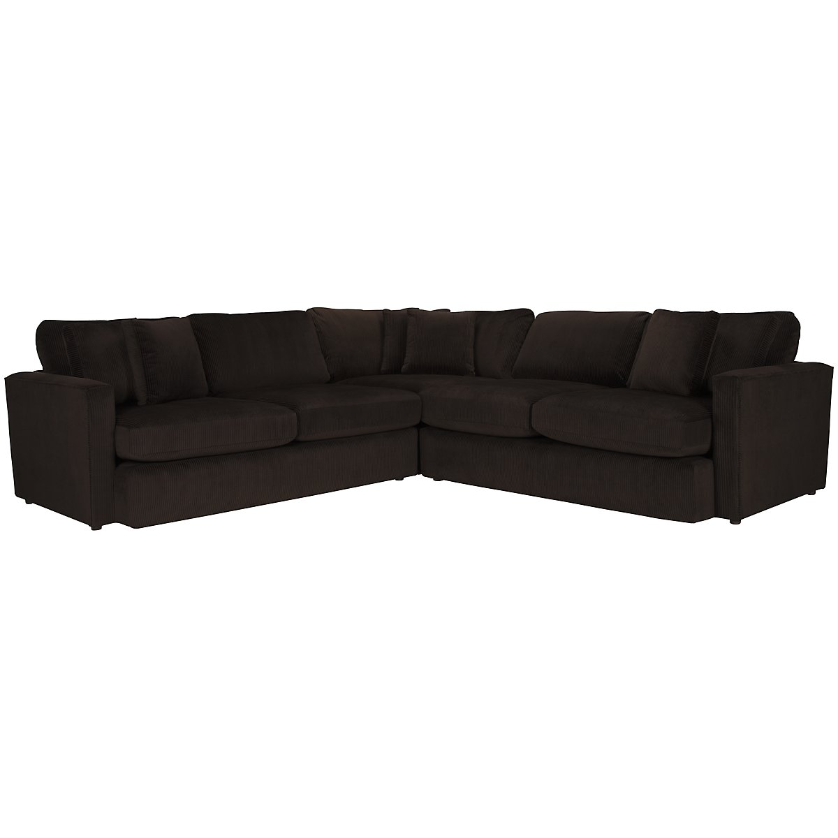 Tara2 Dark Brown Microfiber Small Two-Arm Sectional