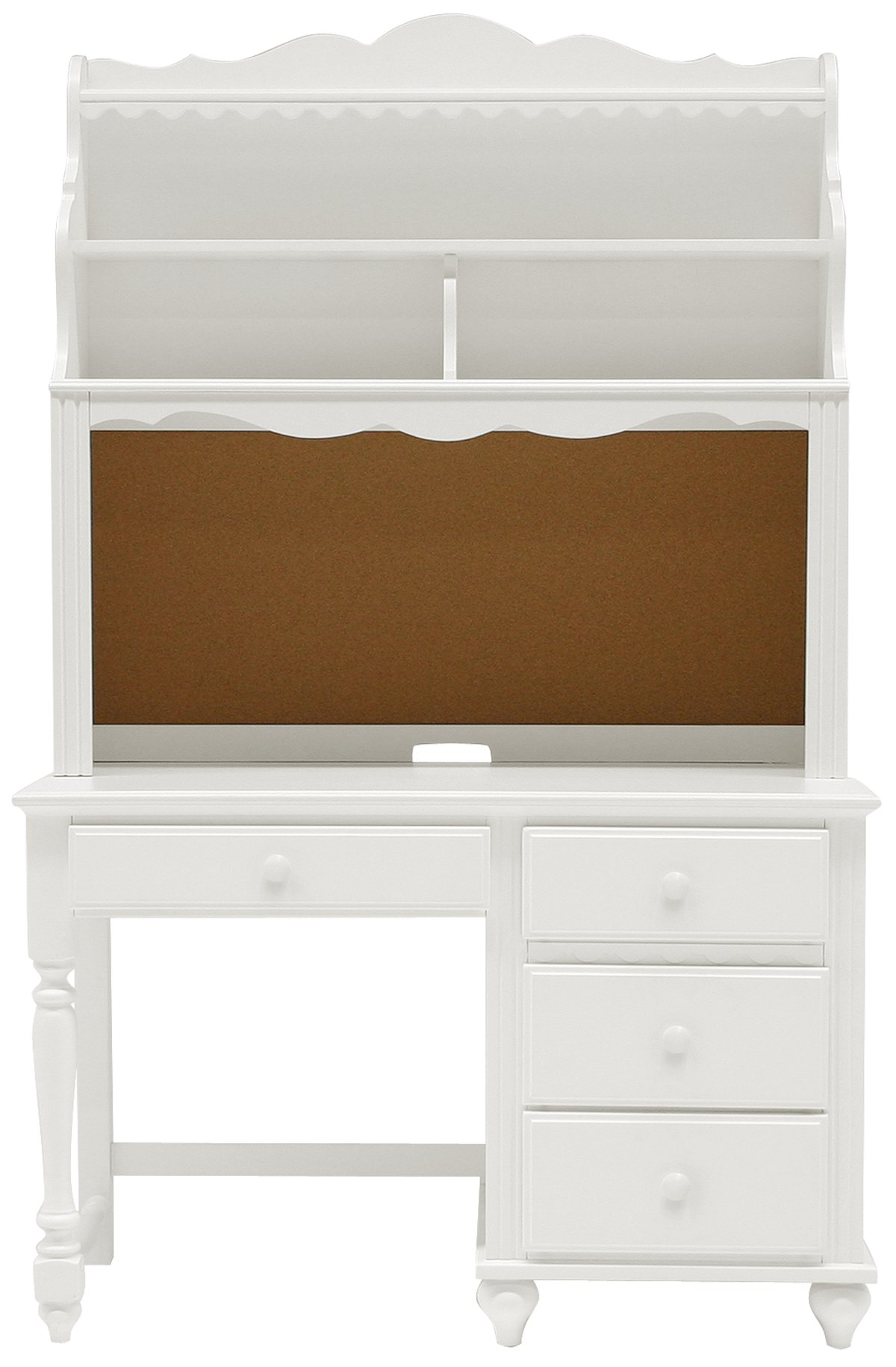 Lauren White Wood Desk And Hutch