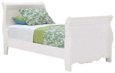Lauren White Sleigh Bed