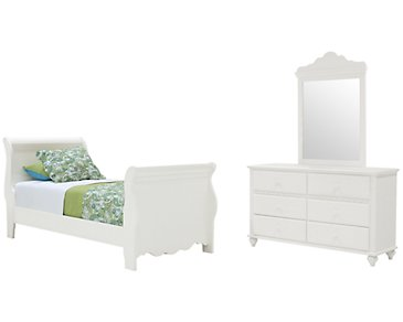 Lauren White Sleigh Bedroom