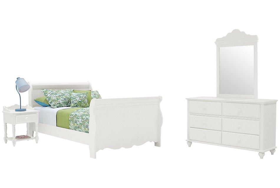 Lauren White  Sleigh Bedroom
