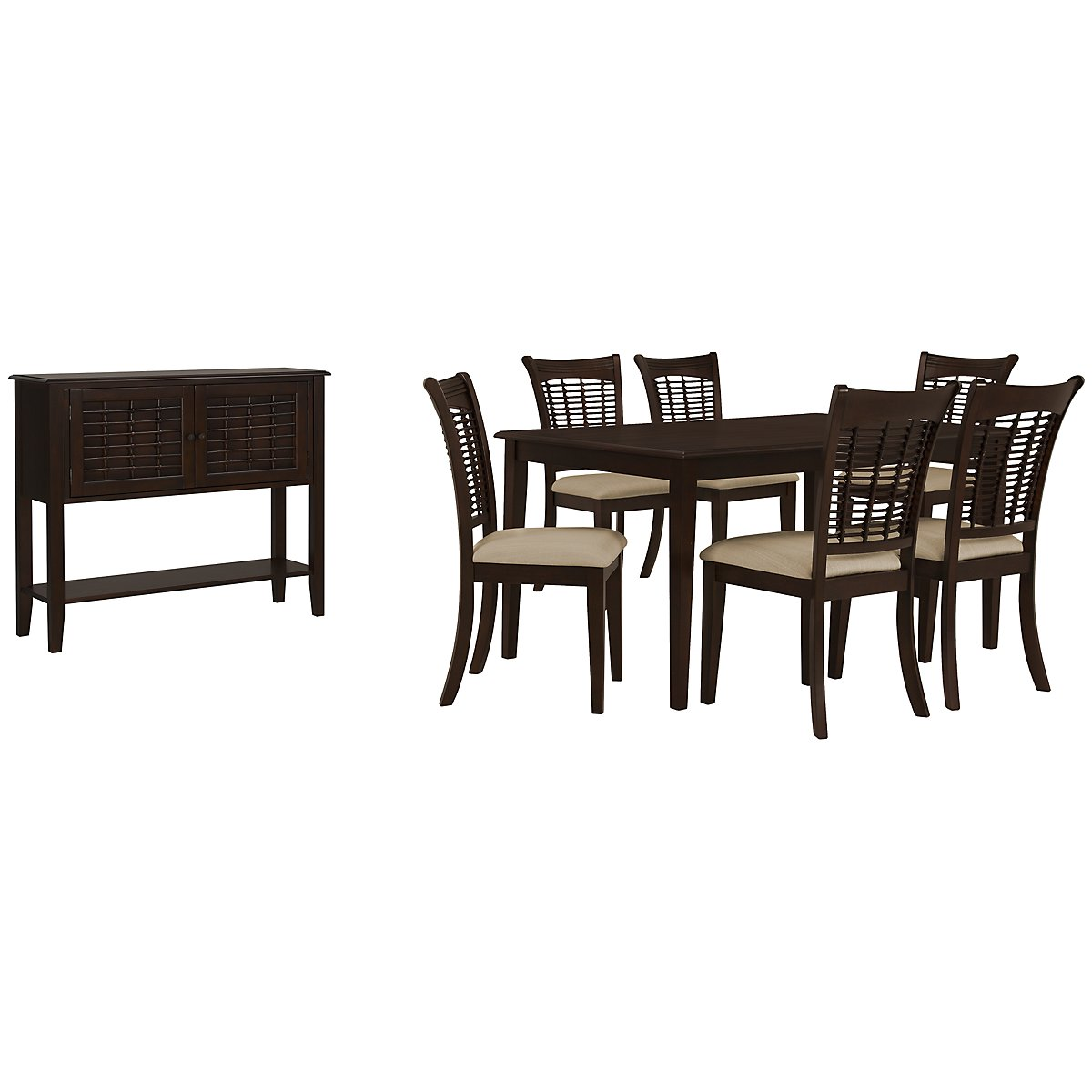 Bayberry Dark Tone Rect Dining Room