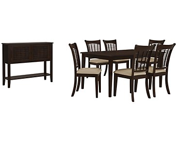 Bayberry Dark Tone Rectangular Dining Room