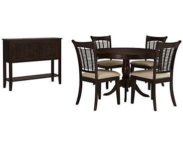 Bayberry Dark Tone Round Dining Room