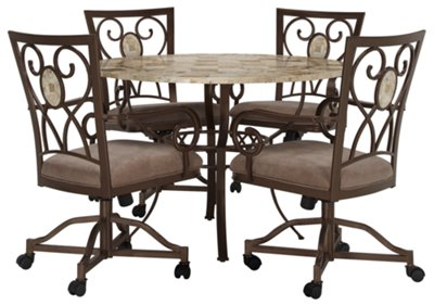 Brookside Round Castored Table & 4 Chairs
