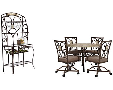 Brookside Round Castored Dining Room