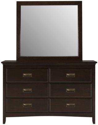Ridgeway Dark Tone Dresser & Mirror