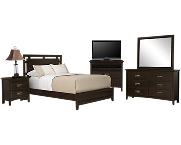 Ridgeway Dark Tone Platform Bedroom Package