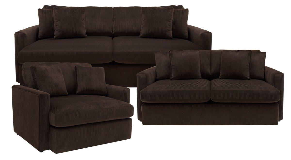 Tara2 Dark Brown Microfiber Living Room