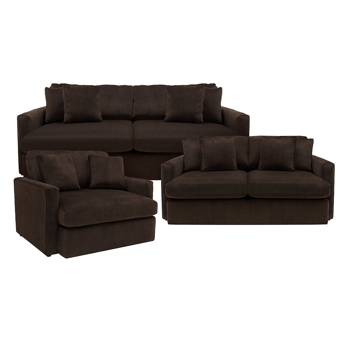 Dark Brown Microfiber Sofa Glasgow Elephant Skin Sectional TheSofa