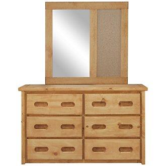 Cinnamon Mid Tone Large Dresser & Mirror