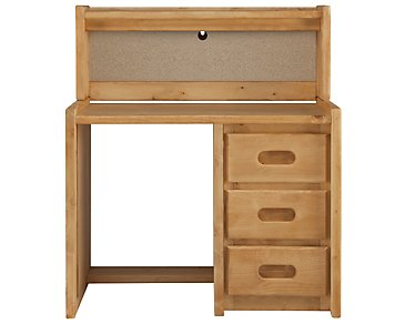 Cinnamon Mid Tone Writing Desk & Hutch