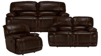 Beautiful Benson Dark Brown Leather U0026 Vinyl Power Reclining Sofa. VIEW LARGER