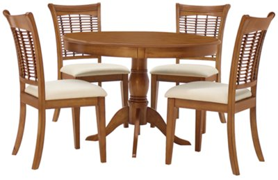 Beautiful Round Table With Chairs Part - 14: Bayberry Mid Tone Round Table U0026 4 Chairs