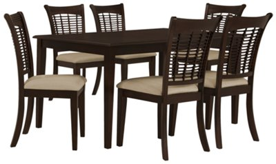 Bayberry Dark Tone Rectangular Table u0026 4