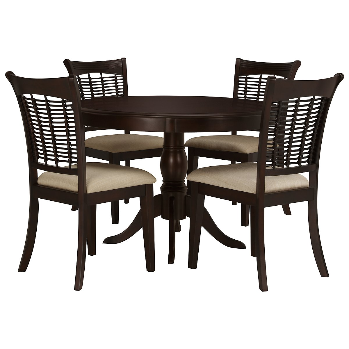 Bayberry Dark Tone Table & 4 Chairs