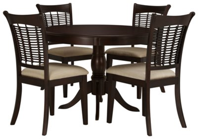 Exceptional Round Table With Chairs Part - 7: Bayberry Dark Tone Round Table U0026 4 Chairs