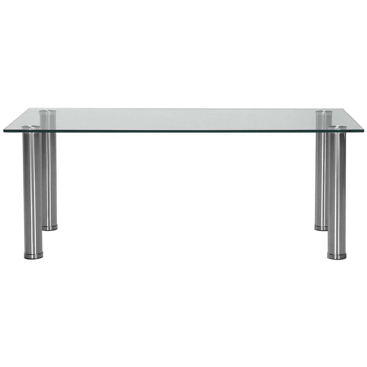 Napoli Glass Silver Rectangular Coffee Table