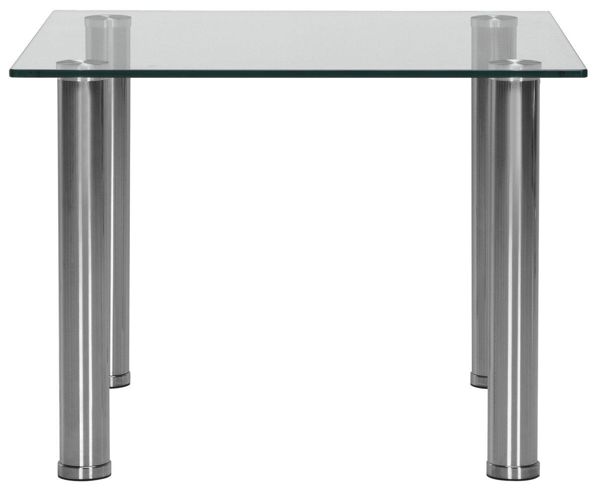 Napoli Glass Square End Table