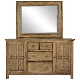 Isle Light Tone Dresser & Mirror