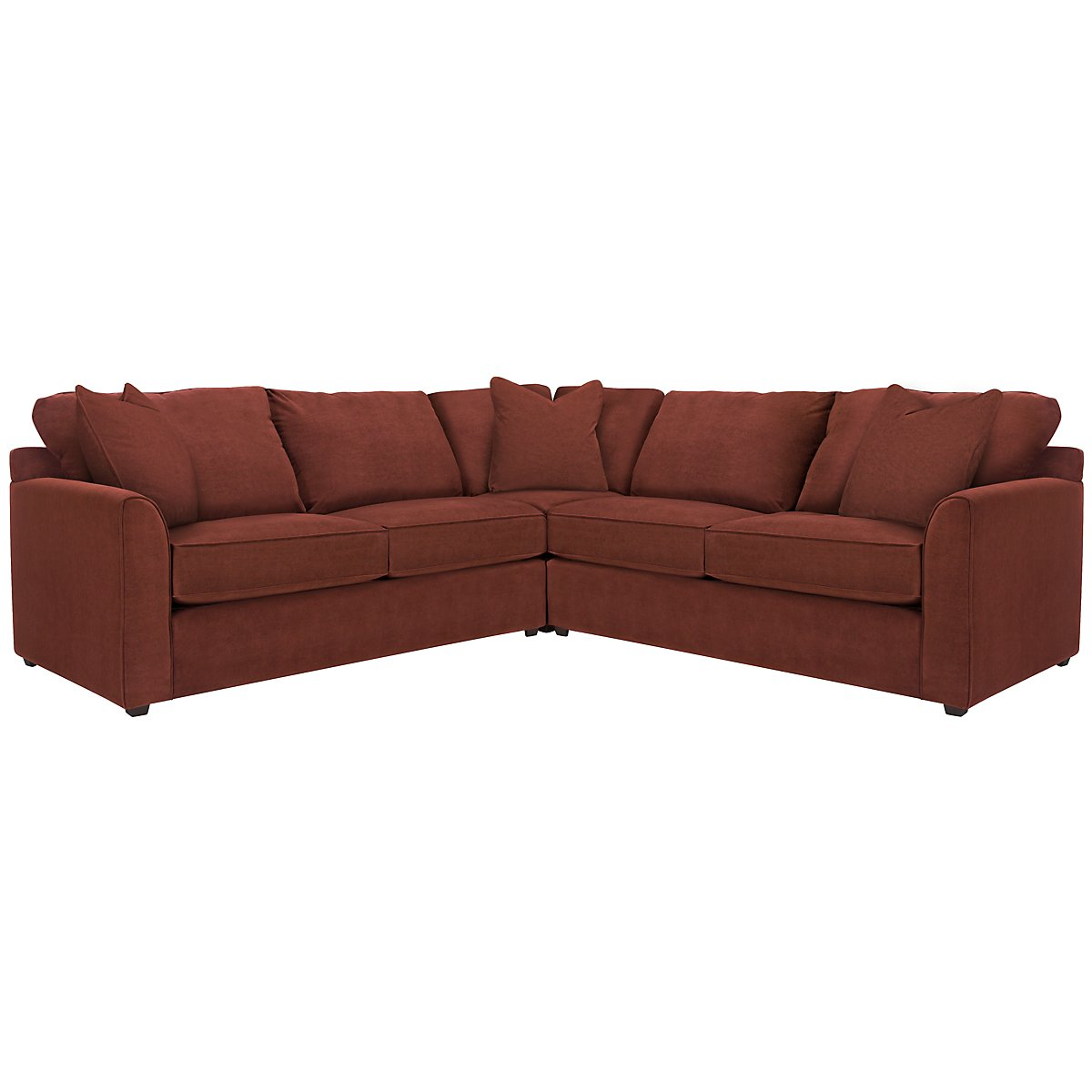 Express3 Red Microfiber Small Two-Arm Sectional