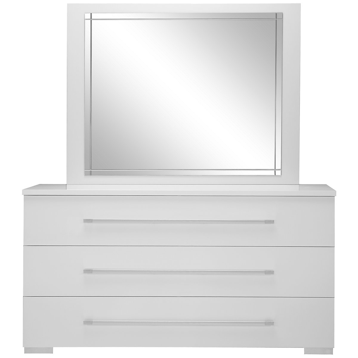 Dimora white dresser mirror bedroom furniture set for White dresser set bedroom furniture