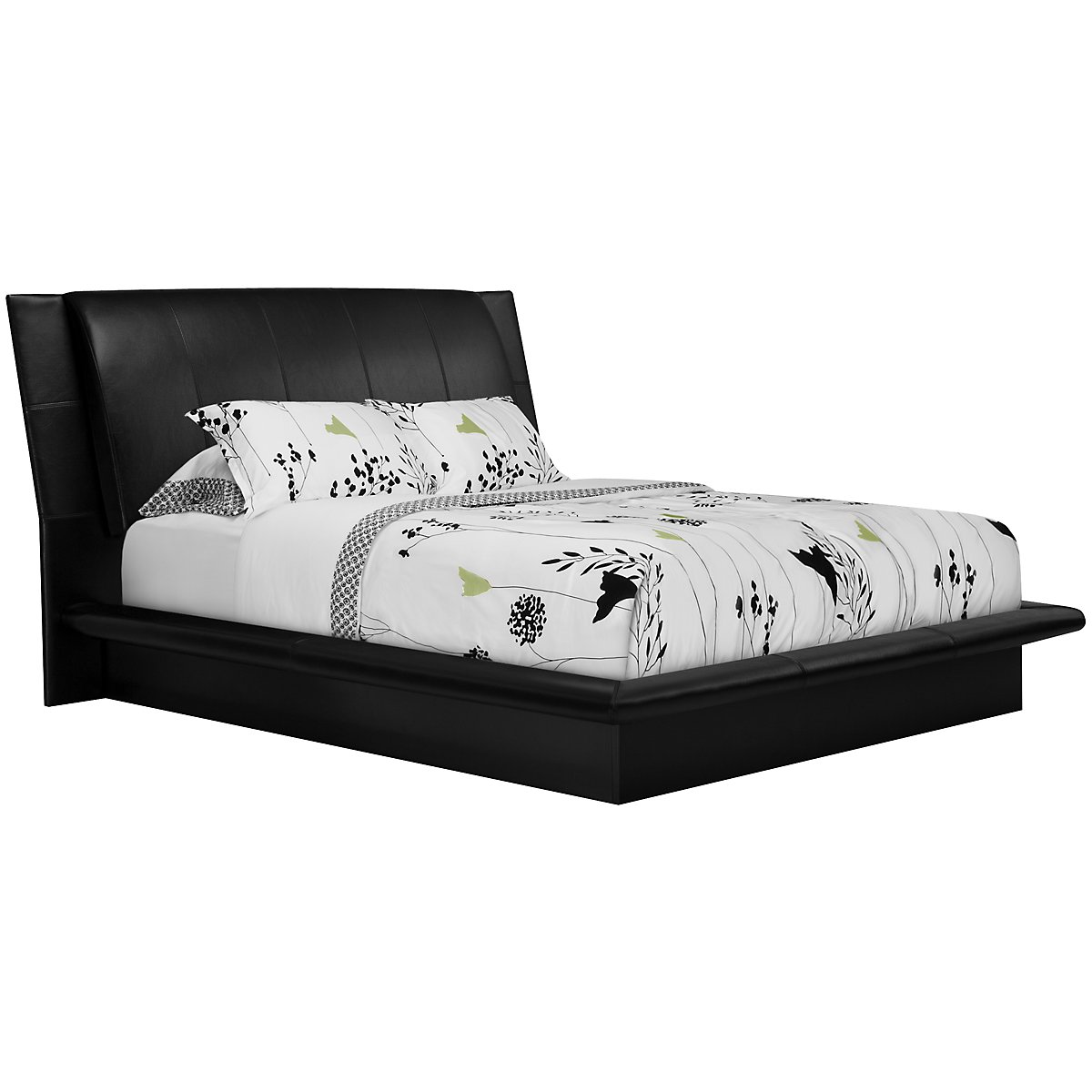 dimora black upholsterd platform bed - dimora black upholstered platform bed